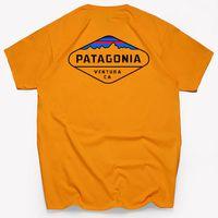 markalı polo gömlekler toptan satış-Moda Yüksek Kaliteli Patagonia S-3XL Tasarımcı Gelen Tasarımcı Marka Yaz Tops Kısa Kollu Tişört Erkek Polo Gömlek Tops