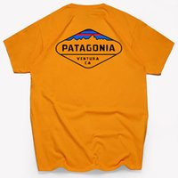 модные мужские рубашки поло оптовых-Мода высокого качества Patagonia S - 3XL Футболка от дизайнерского бренда Летние топы Футболка с коротким рукавом Мужские топы Рубашки поло