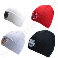 Wholesale winter white hats for women resale online - Tiger Head Beanie Embroidered Hat Winter Hats Warm Soft Skullies Cap Fashion Knitting Beanies Knitted Touca Gorro Caps for Men Women C81903