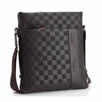 çapraz vücut çantası masculina toptan satış-Yeni bağbozumu erkek haberci çanta ünlü marka tasarımcıları omuz çantaları rahat seyahat crossbody sacoche homme bolsa masculina