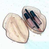 caixa grande de batom venda por atacado-2019 batom Beleza Big mouth lip gloss + lip liner set maquiagem batom 5 cores 3 pçs / set com caixa de varejo