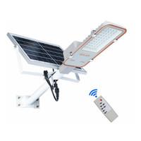 farola led 24w al por mayor-Edison2011 Super Bright SMD 3030 Proyector de luz de calle solar para exteriores Control remoto 24W 50W 70W 100W Reflector solar con caja de regalo