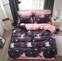Wholesale boys full size bedding for sale - Cartoon Rainbow Unicorn Duvet Cover Bedding Set Twin Queen King Size Teens Girls Boys Kids Bed Linen Bed Sheet Pillowcase59