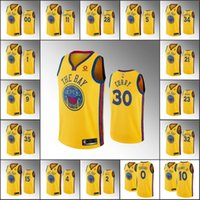 Wholesale durant gold for sale - Group buy Golden State Warriors Men Damion Lee Klay Thompson Stephen Curry Kevin Durant City Gold NBA Custom Jersey