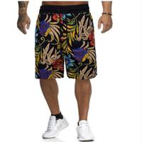 mens linho shorts praia venda por atacado-Mens Shorts de Verão de Algodão e Linho Impresso Calções de Praia Masculino Solto Cordão Calções Esportivos Ocidentais Tamanho Asiático M-3XL