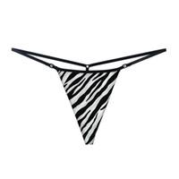 sıcak kadın tanga toptan satış-Sıcak Seksi Mini Mikro Bikini Thongs Kadınlar Seksi Pamuk G Strings Tangas T Geri Low Rise Kadın Baskı Külot İç Erotik Lingerie XL