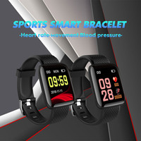 Wholesale step smart fitness watch for sale - Group buy 116 Plus Smart watch Bracelets Fitness Tracker Heart Rate Step Counter Activity Monitor Band Wristband PK PLUS for iphone Android