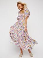 ingrosso abiti lunghi maxi da donna bohemien-
