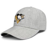 ingrosso cappelli neri gialli di snapback-Pittsburgh Penguins giallo nero uomo donna lana visiera berretto cappello di design popolare snapback cappello secchiello regolabile all'aperto