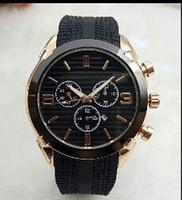 grande borracha preta venda por atacado-2019 China produção 44mm relógio dos homens de alta qualidade relógio do desenhador top marca de borracha de luxo relógio dos homens data automática dia preto grande explosio