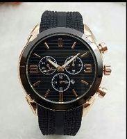 automatik männer beobachten porzellan großhandel-2019 China Produktion 44mm Uhr hohe Qualität Herren Designer Uhr Top-Marke Luxus Gummi Uhr Männer automatische Datum schwarz Tag große Explosio