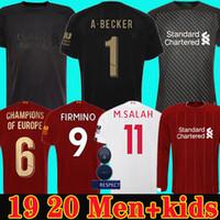nuevos kits de fútbol para niños al por mayor-Camiseta de fútbol del Liverpool 19 20 chandal de fútbol 2019 2020 M. SALAH VIRGIL MANE FIRMINO KEITA MILNER SHAQIRI campeones porteros hombres + kit para niños de la soccer jersey