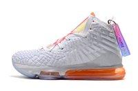 серая оранжевая обувь для баскетбола оптовых-2019 Новые Дизайнерский женский Lebrons 17 баскетбол обуви для продажи Молодых детей Lebrons XV Будущие Белого Оранжевого Джеймс 17s Спортивной обуви с коробкой