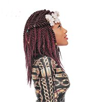 Wholesale ombre hair for sale resale online - Hot Sale Inch Havana Mambo Twist Crochet Braids Roots Ombre kanakalon Synthetic Bohemia Braid Braiding Hair Weave for Girls