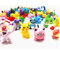 bonecas japonês figurines venda por atacado-Monstro de bolso Figuras Pikachu Anime Brinquedos 144 pcs Estilo Estatuetas Japonesas Figuras Artigos de Decoração Boneca de Lote para Crianças Partido Fornecimento