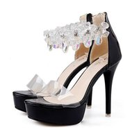 Wholesale size 34 dress shoes for sale - Group buy Glitter rhinestone beaded prom dresses shoes high heels platform shoes fashion luxury designer women shoes Size To