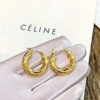 pendientes nuevos calientes al por mayor-Diseñador de lujo Gold Circle Earrings 2019 New Hot Gold Earrings for Women Jewelry con caja de embalaje original