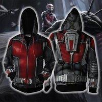 costumes de fourmis achat en gros de-Les 4 Endgame Costume Cosplay Ant-Man 3D imprimer Hoodies Hommes Hooded Zipper End Game Sweatshirts Anime Sweat À Capuche