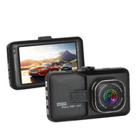 Wholesale high zoom digital camera resale online - High quality car DVR safety video camera vehicle driving camcorder quot display P full HD G sensor loop recording parking monitor