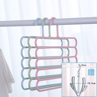 Wholesale plastic storage wardrobe clothes resale online - Pants Shelf Multi Layer Multi Function S Type Pants Clip Hanger Wardrobe Household Towel Non Slip Storage Finishing Drying Artifact