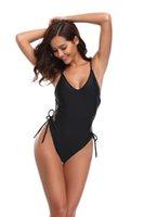 roupa rápida livre do transporte venda por atacado-Bandage Bikini All Black Verão Praia Swimwear Sexy Roupa de Banho roupas de Esportes Aquáticos Entrega Rápida de boa qualidade Frete grátis