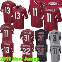 df41ef3e5 Arizona 11 Larry Fitzgerald Cardinals Jersey 13 Kurt Warner 31 David  Johnson 32 Tyrann Mathieu 100% Stitched Logo Football Jerseys