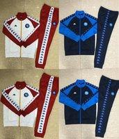 chaquetas de fútbol de los hombres al por mayor-Nueva chaqueta de chándal de fútbol Nápoles chaqueta de cremallera traje de entrenamiento de fútbol MERTENS INSIGNE H.LOZANO 2019 2.020 hombres de 20 napoli 19