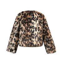jaquetas de inverno do bebê leopardo venda por atacado-Bebê menina meninos roupas Crianças casaco casacos Moda casaco feminino Crianças Faux Fur inverno Leopard Jacket impressão Grosso Outwear Quente