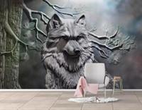 ko groihandel-[Selbstklebend] 3D Wolf 174046 Wall Paper Fototapete Wall Print Decal Murals