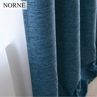 Wholesale norne for sale - Group buy NORNE Faux Linen Shading Rate Modern Style Solid Color Blackout Curtain For Living Room Bedroom Door Window Custom Made