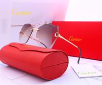 Wholesale polarized glasses sunglasses resale online - 2017 Designer Buffalo horn glasses oculos luxury rectangle sunglasses for men women eyewear zonnebril accessories with box
