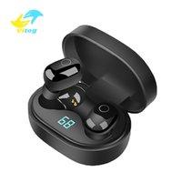 ingrosso auricolari mela nera-cuffie wireless Vitog Y16 TWS Bluetooth auricolari impronte digitali touch nero Super HD wireless intelligenti cuffie auricolari