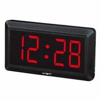 dijital saat numaraları toptan satış-Mutfak Duvar Resmi Y200109 için geniş Dijital Duvar Saati Modern Tasarım Big Numarası Led Elektronik Resepsiyon saat Masa İzle Nixie Clock