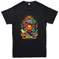 film amblemi toptan satış-Potter Ev Amblemleri T-Shirt, Harry Potter Fantezi Film Inspired Tee En Yeni Yüksek Kalite En Tee Baskı T Gömlek Yaz tarzı