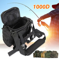 Wholesale fishing waist tackle bags resale online - 1000D Waterproof Outdoor Waist Pouch Multifunctional Large Capacity Canvas Fishing Lure Box Tackle Bag