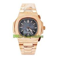lüks kendinden sargı saatler toptan satış-Klasik gül altın İzle lüks erkek saatler 5980 / R-001 kendini sarma otomatik wristwatch316L paslanmaz çelik kasa bilezik mavi kadran saat
