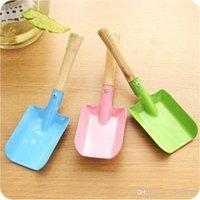 Wholesale kids garden tools for sale - Group buy Metal Small Shovel Garden Spade Gardening Shovels Party Favors Kids Spade Sharp Integrated Digging Garden Tools