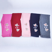 Wholesale cute tights for baby girls for sale - Group buy baby tights Children s leggings colors can choose spring and autumn cotton tights cute fashion foot embroidered Pants for girl