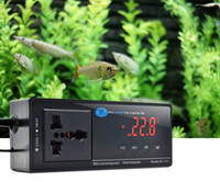 Wholesale thermostat electronic resale online - 2019 NEW F C Switchable Electronic Thermostat Digital Temperature Controller w Socket for Reptile Aquarium Regulator