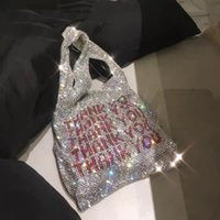 ingrosso borse di sequin bling-Grazie Borse per paillettes Borse per donna piccole Tote per borse Crystal Bling Bling Borse per secchielli per signora Fashion Vest per ragazze con brillantini