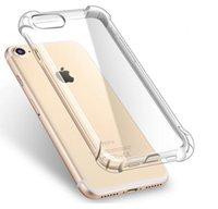 iphone 6 case оптовых-Ультра тонкий прозрачный прозрачный TPU силиконовый чехол для iPhone XS MAX XR 6 7 6 S Plus защитите резиновый чехол для телефона iPhone 8 7 Plus