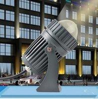 luz de punto llevada rgb impermeable al por mayor-EN la luz al aire libre impermeable del punto del LED lámpara de pared IP65 Ángulo de haz estrecho diodos LED 10W lámpara del punto de larga distancia arandela de la pared de la lámpara