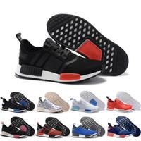 en iyi r1 toptan satış-2019 Koşu Ayakkabıları Klasik Üçlü Kırmızı Siyah NMD R1 Primeknit Japonya En İyi Erkek Kadın Spor Ayakkabı Sneakers Eğitmenler 36-45