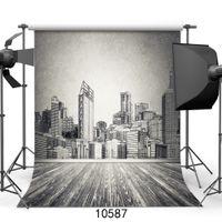 фото фото оптовых-Grey Wall Painting Portrait Vinyl Photography Background Computer Printed Customizd Children Photo Backdrop for Studio Photocall