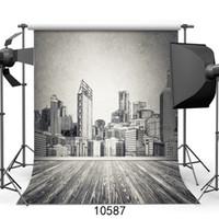 ordinateur de peinture en aérosol achat en gros de-Mur gris peinture portrait vinyle photographie fond ordinateur imprimé Customizd enfants photo toile de fond pour studio photocall