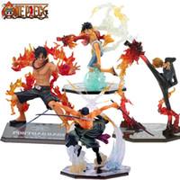 zoro sanji venda por atacado-Anime One Piece Figura Roronoa Zoro Macaco D Luffy Sanji Portgás D Ace Fire Fist Batalha Ver. Colosso da figura de ação