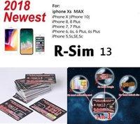iphone için verizon toptan satış-RSIM 13 R-SIM SUP Nano Kilidini Kart iPhone XS Için / 8/7/6/6 S 4G LTE IOS 11 12 Ücretsiz kargo