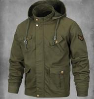 ingrosso uomini casual di giacca militare-Gli uomini più il formato giacca militare stile militare MA1 fredda Bomber Jacket cappotti