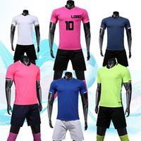 Wholesale thai clothing resale online - 2019 sportswear training clothes suit shirts Thai version quality processing name and quantity Free delivery