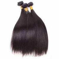 ingrosso le clip di capelli bianchi dell'orchidea matrimoni-Capelli umani brasiliani non trattati 8a peruviano indiano malese vergine capelli umani estensioni dei capelli lisci 3 pz / lotto per le donne nere dhl